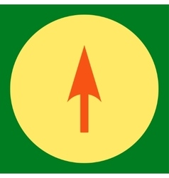 Arrow Axis Y flat orange and yellow colors round vector image