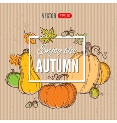 autumn template vector image