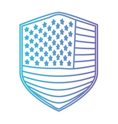 Badge of flag united states of america in color vector