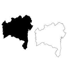 Bahia map vector