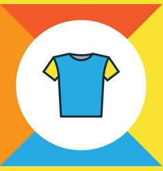 Blouse colorful outline symbol premium quality vector
