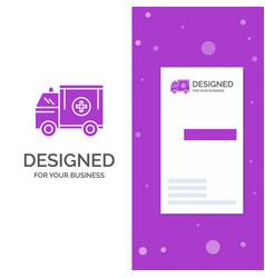 business logo for ambulance truck medical help vector image