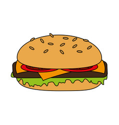 Cheese burger vector