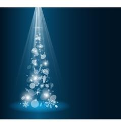 Christmas card with fir tree vector image