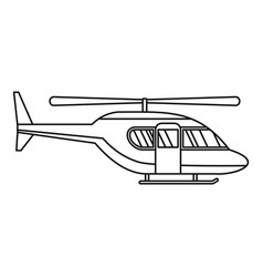 City helicopter icon outline style vector