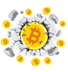 Cryptocurrency mining conceptual design bitcoin vector