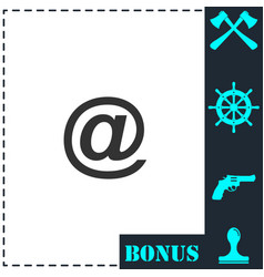 e-mail icon flat vector image