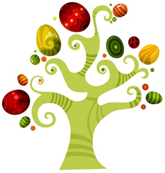 Easter tree vector