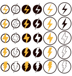 Electric lightning icon on white background flat vector