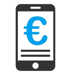 Euro Mobile Banking Flat Icon vector image