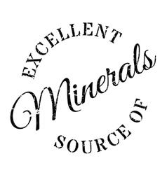 Excellent source minerals stamp vector