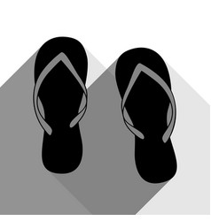 flip flop sign black icon with two flat vector image