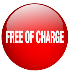 Free of charge red round gel isolated push button vector