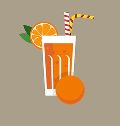 Fresh Orange Juice Drink vector image