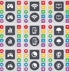 Gamepad Wi-Fi Monitor Diagram Smartphone Tree vector