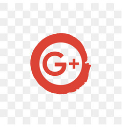 google plus social media icon design template vector image