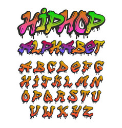 Graffity alphabet hand drawn grunge font vector
