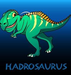Hadrosaurus cute character dinosaurs vector