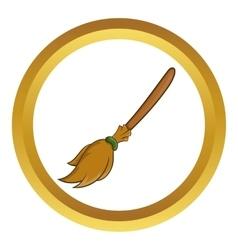 Halloween accessory broom icon vector image