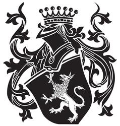 heraldic silhouette No15 vector image