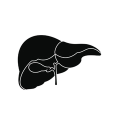 Human liver black icon vector
