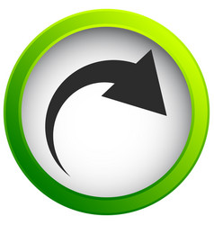 Icon with curved arrow fold twist rotate concept vector