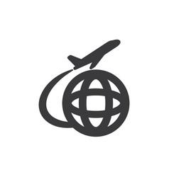 international departures icon vector image