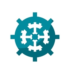 Isolated gear machine part design vector image