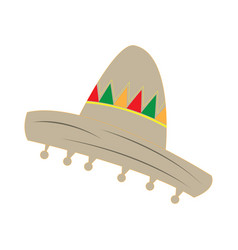 isolated traditional mexican hat vector image