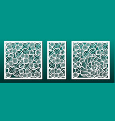 Laser cut template set pattern for metal cutting vector