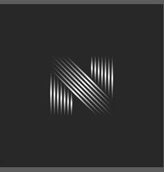 letter n logo initial creative monogram thin vector image