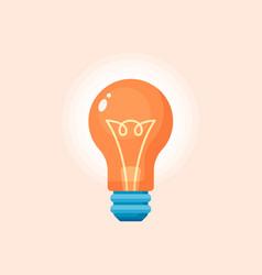 Light bulb - business icon long shadow vector