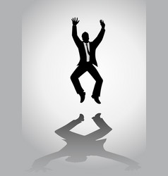 Man with suit jumping vector