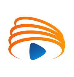 media play logo simple modern concept logo vector image