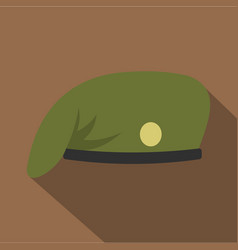 military cap icon flat style vector image