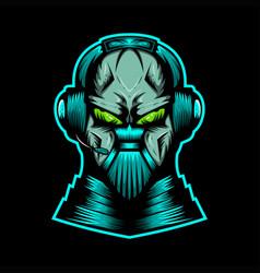 Monster streaming headphone vector