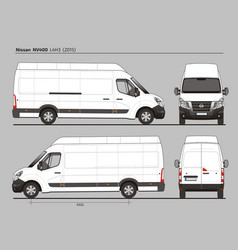 Nissan nv400 cargo delivery van l4h3 2015 vector