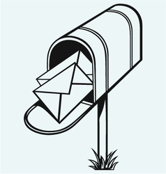 Open Mailbox with letters vector