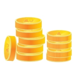 Pile of the gold coins vector image