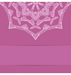 Pink card with ornate zentagle style pattern vector