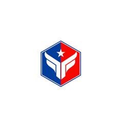 polygon star company logo vector image