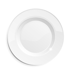 Realistic empty dish plate vector