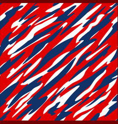 Red white and blue patriotic seamless pattern vector