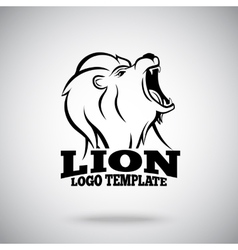 Roaring Lion logo template for sport teams vector