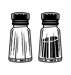 Salt shaker two full and empty objects vector