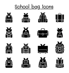 school bag icon set graphic design vector image