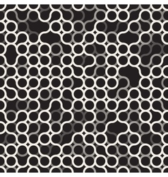 Seamless Black and White Circles Irregular vector image