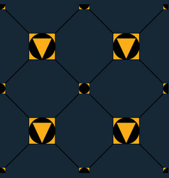 seamless repeating pattern of squares triangles vector image