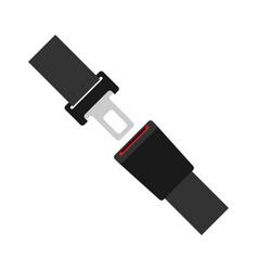 Seat belt icon isolated on white background flat vector