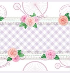 Shabby chic textile seamless pattern background vector